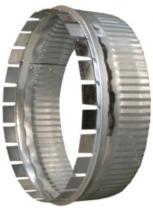 Ductworks - HVAC - round pipe start collars - a collar
