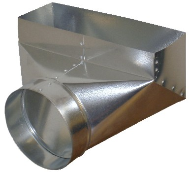 Ductworks - HVAC - angle register boot