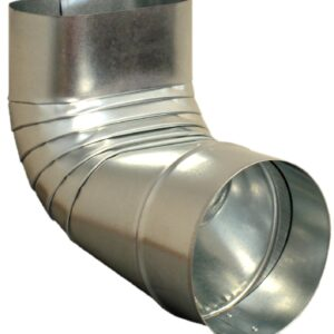 Ductworks - HVAC - Oval to Round angle fitting