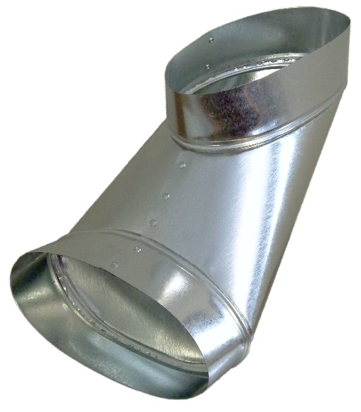 Ductworks - HVAC - oval to oval reverse boot
