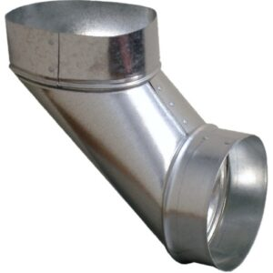 Ductworks - HVAC - oval to round end fitting