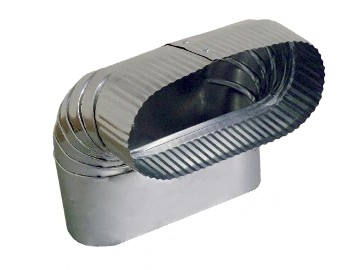 Ductworks - HVAC - oval pipe vertical elbow